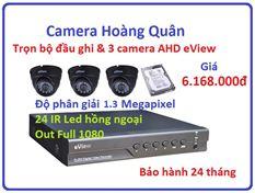 Trọn bộ đầu ghi Đầu ghi AHD EView, 3 Camera 1.3 Mp