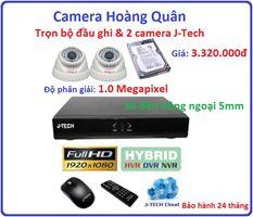 Trọn bộ đầu ghi Đầu ghi J-Tech  AHD8004B, 2 Camera AHD3200 1.0Mp