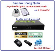 Trọn bộ đầu ghi Đầu ghi J-Tech AHD8004B, 1 Camera 1.0 Mp