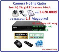 Trọn bộ đầu ghi Đầu ghi J-Tech  AHD8004B, 2 Camera 1.3Mp