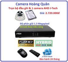 Trọn bộ đầu ghi Đầu ghi J-Tech AHD8004B, 1 Camera 1.3 Mp