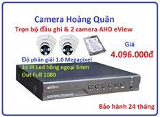 Trọn bộ đầu ghi Đầu ghi AHD EView, 2 Camera 1.0 Mp