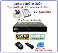 Trọn bộ đầu ghi Đầu ghi J-Tech AHD8004B, 1 Camera 2.0 Mp