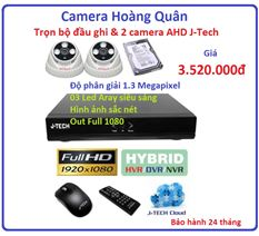 Trọn bộ đầu ghi J-Tech AHD8004B, 2 Camera 1.3 MP