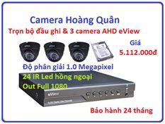 Trọn bộ đầu ghi Đầu ghi AHD EView, 3 Camera 1.0 Mp