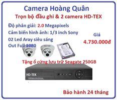 Trọn bộ đầu ghi Đầu ghi HD-TEK, 2 Camera 2.0 Mp