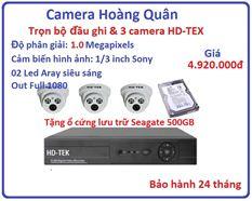 Trọn bộ đầu ghi Đầu ghi HD-TEK, 3 Camera 1.0 Mp