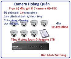 Trọn bộ đầu ghi Đầu ghi HD-TEK, 7 Camera 2.0 Mp