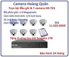 Trọn bộ đầu ghi Đầu ghi HD-TEK, 7 Camera 1.3 Mp