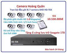 Trọn bộ đầu ghi Đầu ghi HD-TEK, 7 Camera 1.0 Mp
