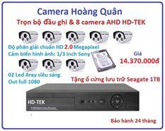 Lắp Đặt Camera Trọn Bộ 8 Camera HD-TEK 2.0MP