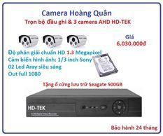 Lắp Đặt Camera Trọn Bộ 3 Camera HD-TEK 1.3MP