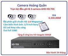 Lắp Đặt Camera Trọn Bộ 3 Camera HD-TEK 2.0MP