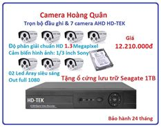 Lắp Đặt Camera Trọn Bộ 7 Camera HD-TEK 1.3MP
