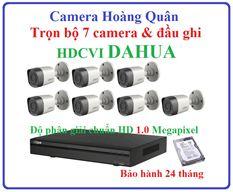 Trọn Bộ 7 Camera HDCVI Dahua 1.0Mp Và Đầu Ghi 8 Kênh
