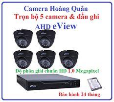 Trọn Bộ 5 Camera AHD eView 1.0Mp Và Đầu Ghi 8 Kênh