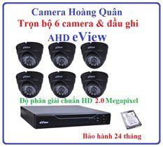 Trọn Bộ 6 Camera AHD eView 2.0Mp Và Đầu Ghi 8 Kênh