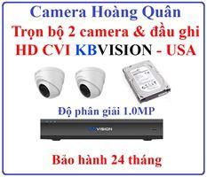 Lắp Đặt Camera Trọn Bộ 2 Camera HD CVI 1.0Mp KBVISION