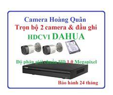 Trọn Bộ 2 Camera HDCVI Dahua 1.0Mp Và Đầu Ghi 4 Kênh