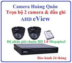 Trọn Bộ 2 Camera AHD eView 1.0Mp Và Đầu Ghi 4 Kênh