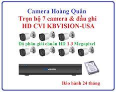 Lắp Đặt Camera Trọn Bộ 7 Camera HD CVI 1.3Mp KBVISION