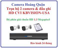 Lắp Đặt Camera Trọn Bộ 2 Camera HD CVI 1.3Mp KBVISION