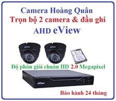 Trọn Bộ 2 Camera AHD eView 2.0Mp Và Đầu Ghi 4 Kênh