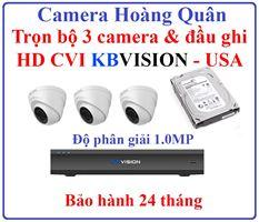 Lắp Đặt Camera Trọn Bộ 3 Camera HD CVI 1.0Mp KBVISION