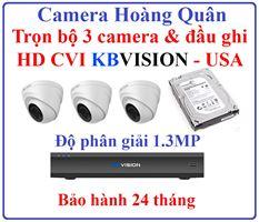 Lắp Đặt Camera Trọn Bộ 3 Camera HD CVI 1.3Mp KBVISION