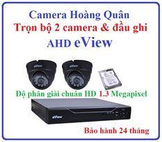 Trọn Bộ 2 Camera AHD eView 1.3Mp Và Đầu Ghi 4 Kênh