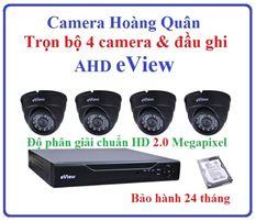 Trọn Bộ 4 Camera AHD eView 2.0Mp Và Đầu Ghi 4 Kênh