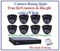 Trọn Bộ 8 Camera AHD eView 1.3Mp Và Đầu Ghi 8 Kênh