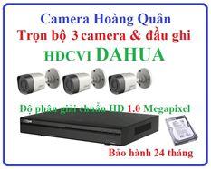 Trọn Bộ 3 Camera HDCVI Dahua 1.0Mp Và Đầu Ghi 4 Kênh