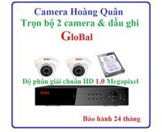 Trọn bộ Camera GloBal, 2 camera và đầu ghi