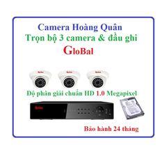 Trọn bộ Camera GloBal, 3 camera và đầu ghi