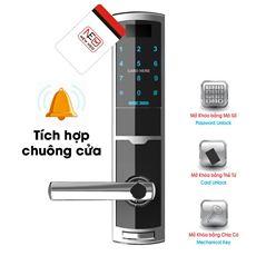 Khóa Điện Tử Thông Minh Đức Tích Hợp Chuông Cửa TDT 1330 Trắng NEWNEO