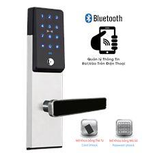 Khóa Điện Tử Đức Kết Nối Bluetooth Điện Thoại A0916P Trắng NEWNEO