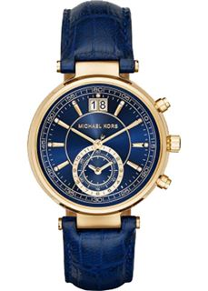 MICHAEL KORS Sawyer Blue Dial Leather