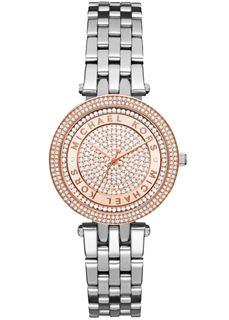MICHAEL KORS Mini Darci Crystal Pave Dial Two Tone
