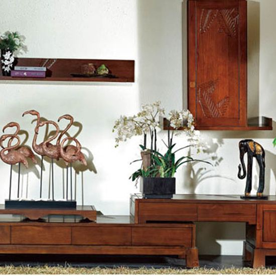 Kệ tivi gỗ tự nhiên - Mẫu KE 02 - Bộ Mộc Hoa