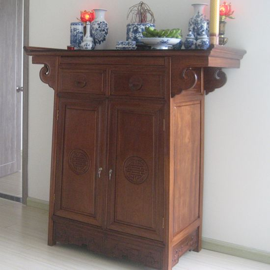 Tủ thờ gỗ gụ chữ A - Mẫu A02 - Size: 127x610x127