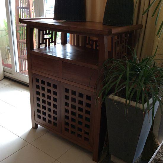 Tủ thờ gỗ gụ hiện đại - Mẫu B01