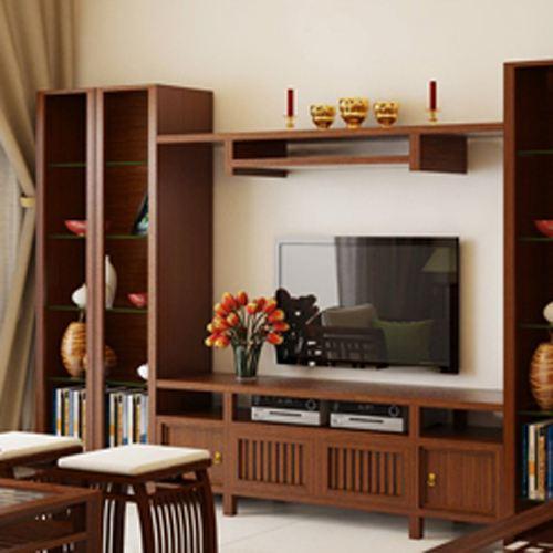 Ke tivi gỗ tự nhiên - Mẫu KE 08 - Bộ Vạn Hoa