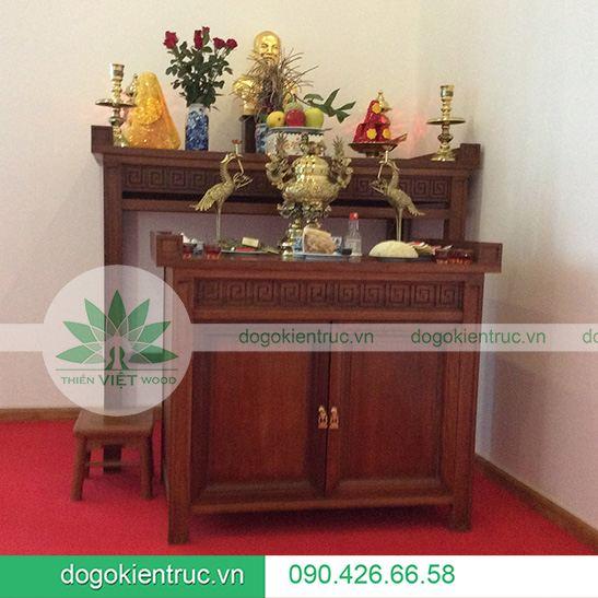Mẫu bàn thờ gỗ Gụ - Mã H03
