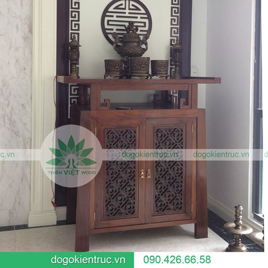 Tủ thờ gỗ Gụ - Mẫu A04 - Size: 127x61x127