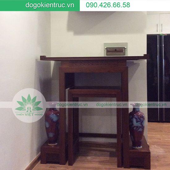 Bàn thờ gỗ Gụ hai cấp - Mẫu 07 -Size: 81x48