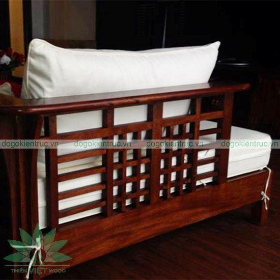 Sofa gỗ tự nhiên - Bộ Vạn Hoa