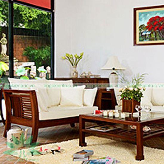 Sofa gỗ tự nhiên - Mẫu 07 - Bộ Như Ý