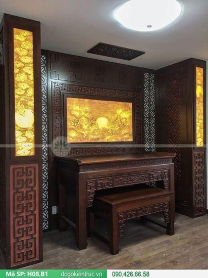 Mẫu bàn thờ biệt thự đẹp - Mã H08