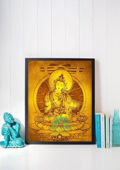 Tranh treo phòng thờ đẹp họa tiết đức Phật
